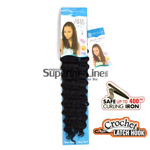 Impression Deep Twist hajhosszabbitas szintetikus fürtök afro (szín 1)