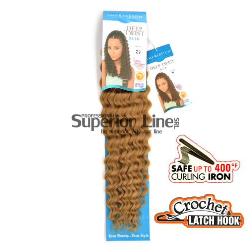 Impression Bulk Deep Twist crochet braids (color 27)