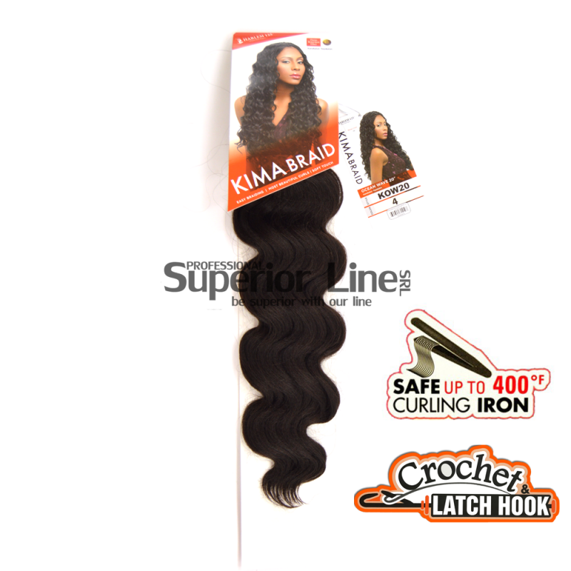 Kima Ocean Wave hajhosszabbitas szintetikus fürtök afro (szín 4)