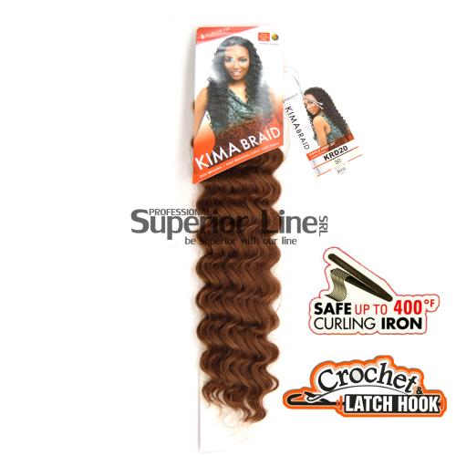 Kima Ripple Deep удължения за коса синтетични къдрици афро плетене на една кука (цвят 30)