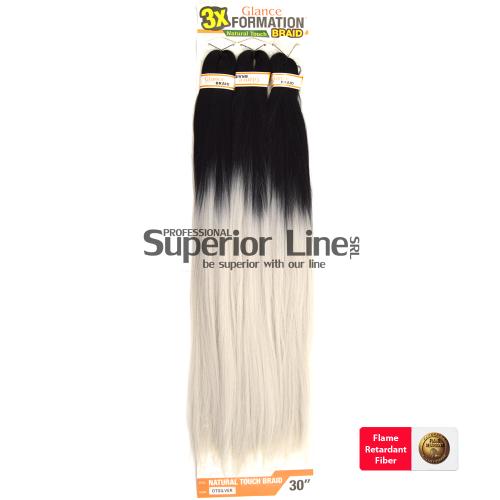 Glance 3X lasje sintetični kanekalon za pletenice afriški (farba OTSILVER)