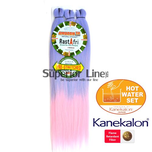 Rastafri Amazon 3X Pre Streched Синтетични коса за африканска плитка (цвят 3T/WATERSLIDE)