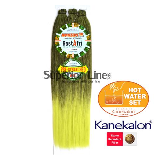Rastafri Amazon 3X ile-luzapen sintetikoak afrikako txirikordak egiteko (kolore T1B/NEON)