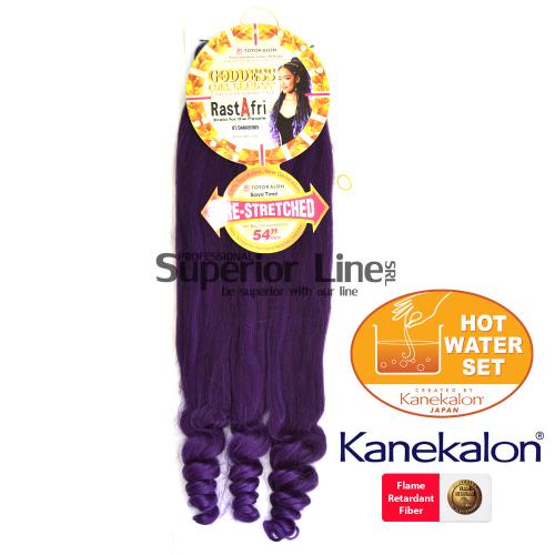 Rastafri Goddess 3X Pre Streched kanekalon haj (szín BT/DARKBERRY)