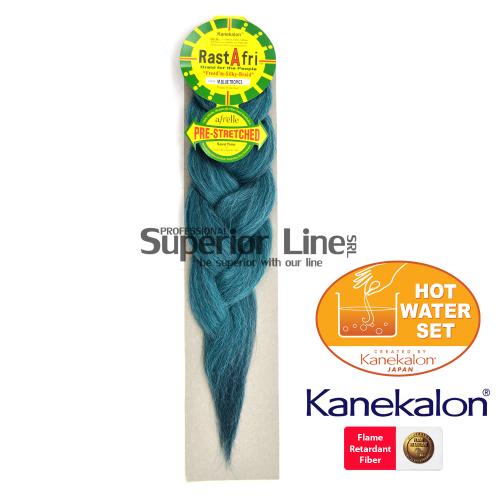 Rastafri Braid Pre Streched szintetikus hajat az afro kötéshez (szín M.BLUE TROPICS)