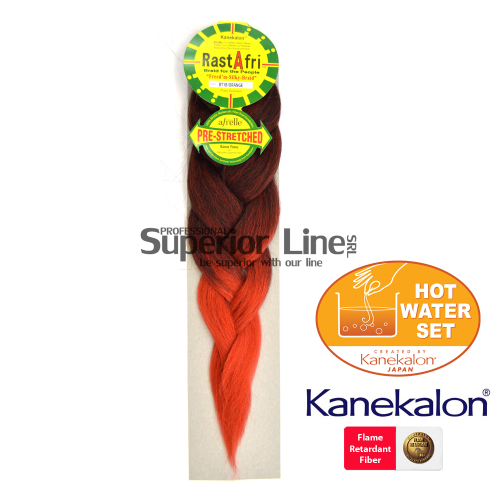 Rastafri Braid Pre Streched (culoar BT1B/ORANGE)