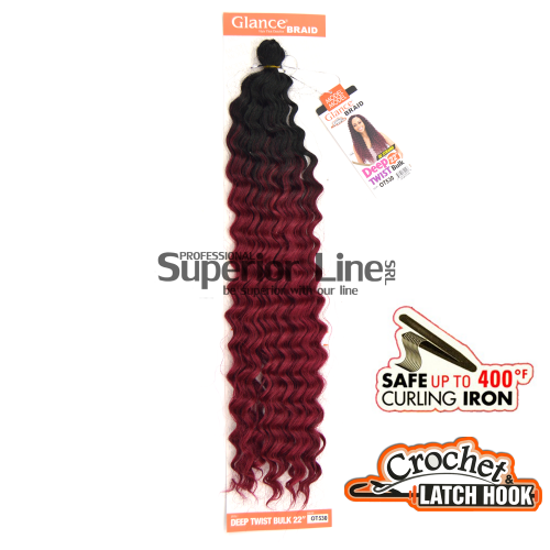 Glance Deep Twist sintetični afriški lasje kvačkanje pletenice (farba OT530)