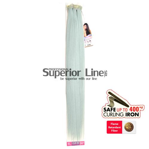 Obsession Predlžovanie vlasov syntetické Clip In (farba W-OPAL)