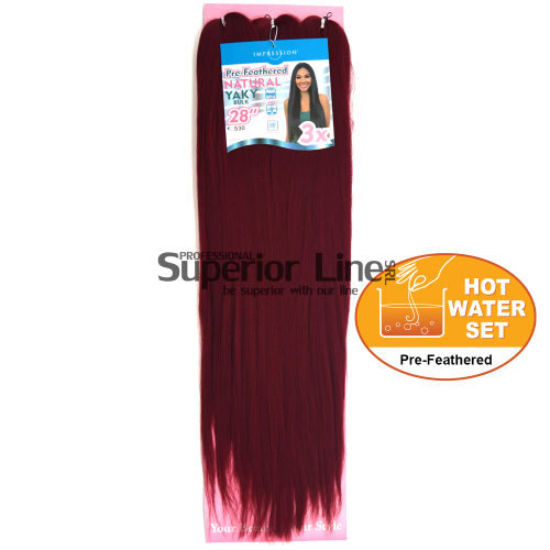 3x Impression Kanekalon haj (szín 530)