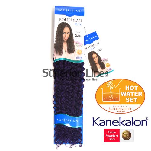 Impression Bohemian sintetični afriški lasje kvačkanje pletenice (farba DKPU)