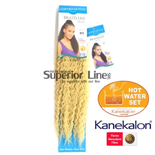 Impression Brazilian hajhosszabbitas szintetikus fürtök afro (szín 613)