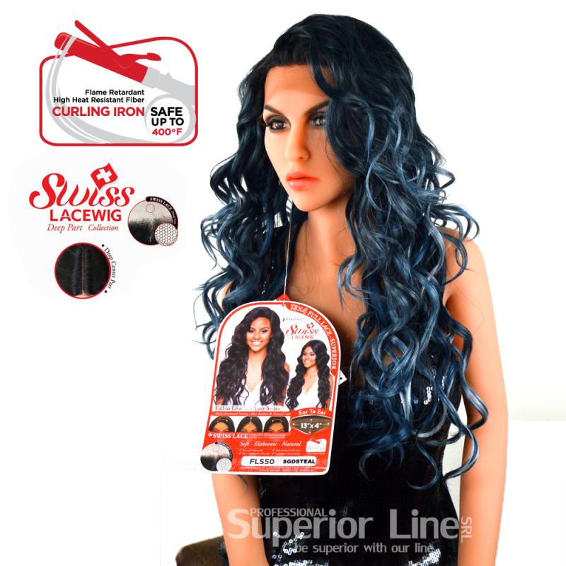 Kima FLS03 peruca cu dantela frontala (culoare SGDSTEAL)