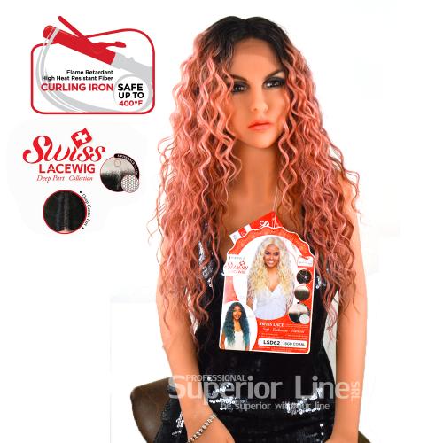 Kima LSD62 Синтетични перуки за коса (цвят SGDCORAL)