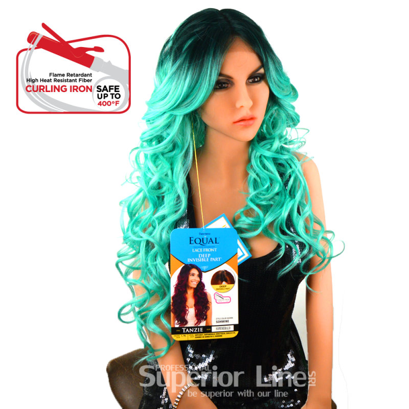 Equal Tanzie wig with lace (color OPEMERALD)