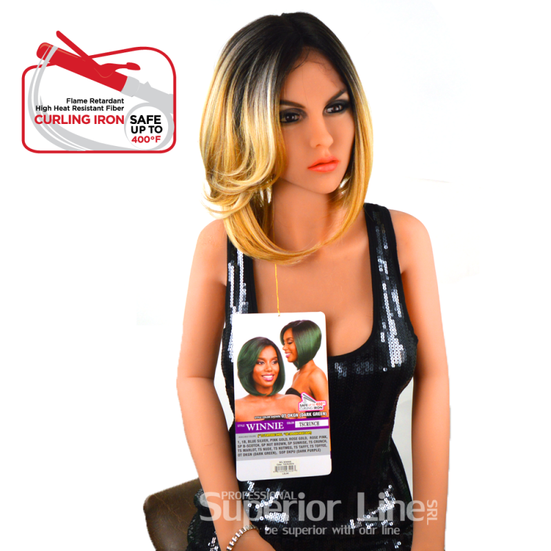 Model Model Winnie peruca cu dantela par sintetic (culoare