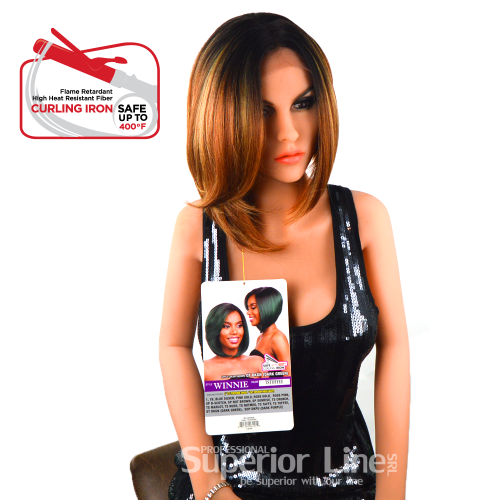 Model Model Winnie lace wig with synthetic hair (color TSTOFEE)
