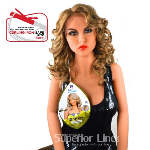 Rastafri Никол дантела перука синтетична коса (цвят кафе ЛАТЕ БЛОНДИНКИ)