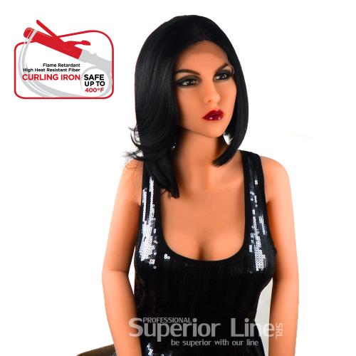 Model Model Winnie peruca cu dantela par sintetic (culoare 1)