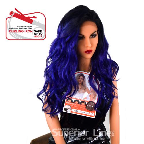 Kima FLS11 перука с дантела (цвят SGDPU/BL)