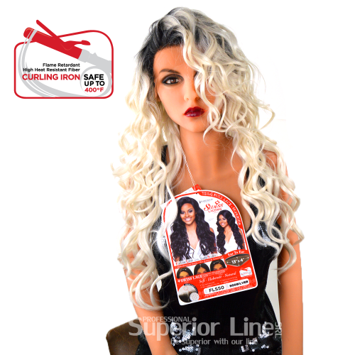 Kima FLS50 szintetikus haj parókák (szín SGDSILVR)