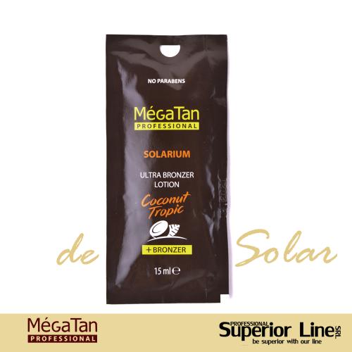 MegaTan Coconut Tropic crema bronzare solar + autobronzant 15 ml