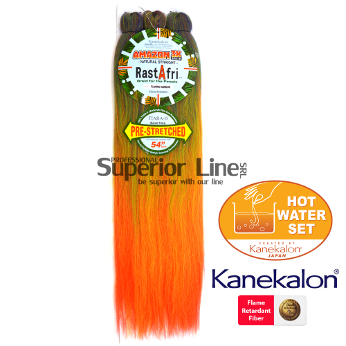 Rastafri Amazon 3X Pre Streched par de impletit (culoare FLAMING.RAINBOW)