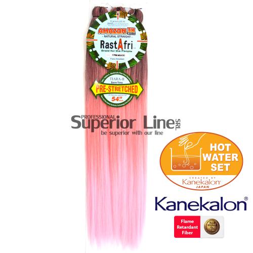 Rastafri Amazon 3X ile-luzapen sintetikoak afrikako txirikordak egiteko (kolore 3T/PINKMOLASSES)