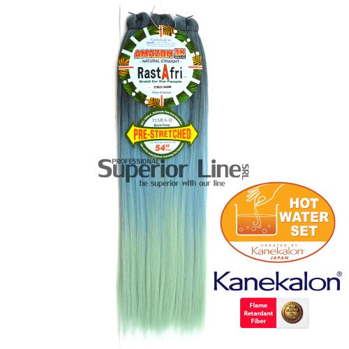 Rastafri Amazon 3X ile-luzapen sintetikoak afrikako txirikordak egiteko (kolore 3T/BLUELAGOON)