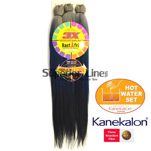 3X Rastafri HighLight Jumbo kanekalon-zöpfe aus kunsthaar (farbe 3TSILVER/1B)
