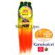 3X Rastafri HighLight Jumbo Kanekalon haj (szín 3TGR/Y/RED)