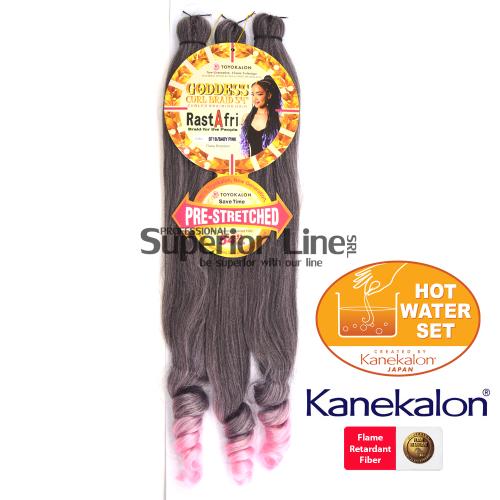 Rastafri Goddess 3X Pre Streched kanekalon haj (szín BT1B/BABYPINK)