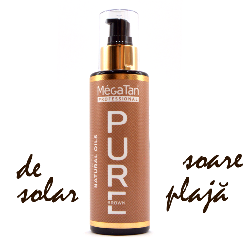 Megatan Pure Solarium and Sun Tanning Natural Dry Tanning Oil 140 ml