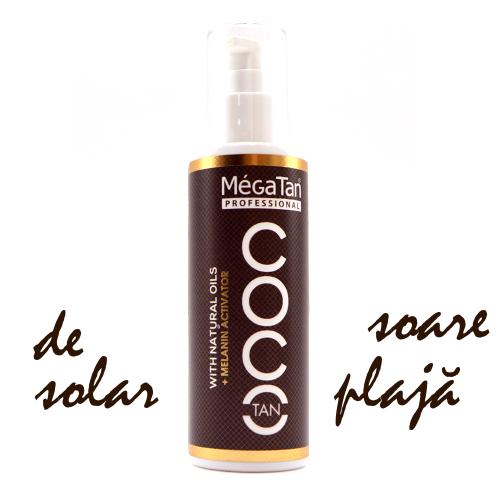 Megatan Coco Solarium and Sun Tanning + Melanin activator Natural Dry Tanning Oil 140 ml