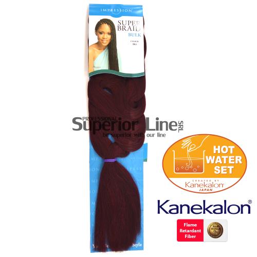Impression Braid lasje sintetični kanekalon za pletenice afriški (farba 99J)