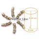 Gyűrűk, díszek, fémes modellek afro-fonathoz