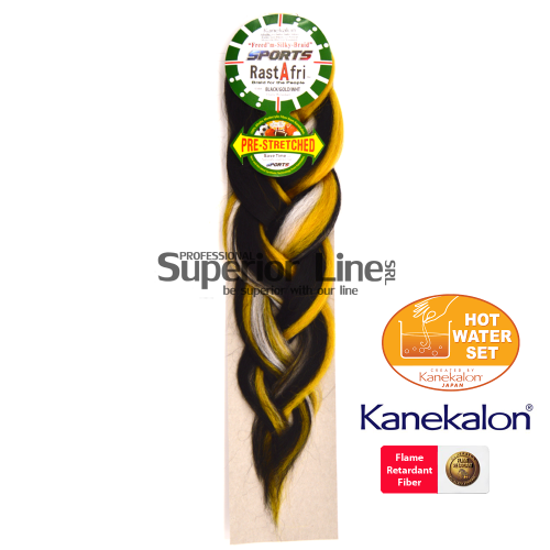 Rastafri AFB Sports Braid kanekalon haj (szín BK/GOLD/WHT)
