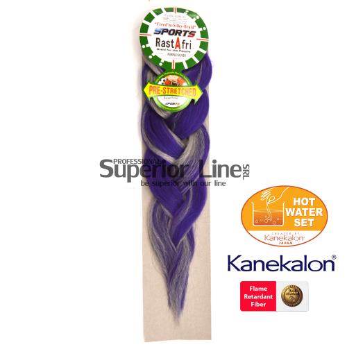 Rastafri AFB Sports kanekalon-zöpfe aus kunsthaar (farbe PP/SILVER)