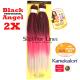 2X Black Angel ile-luzapen sintetikoak afrikako txirikordak egiteko (kolore )
