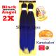 2X Black Angel pre-streched Kanekalon haj (szín )