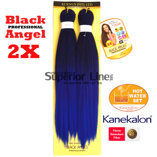 2X Black Angel kanekalon-zöpfe aus kunsthaar (farbe T1B/PURPLE/BLUE)