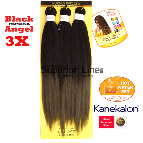 3X Black Angel pre-streched braid (color T1BGREY)