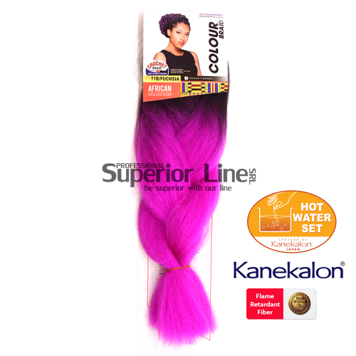 Sensationnel Jumbo Braid Kanekalon haj (szín T1B/FUSCHIA)