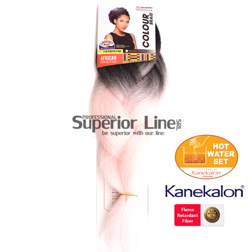 Sensationnel Jumbo Braid Kanekalon haj (szín T1B/PASTEL PINK)
