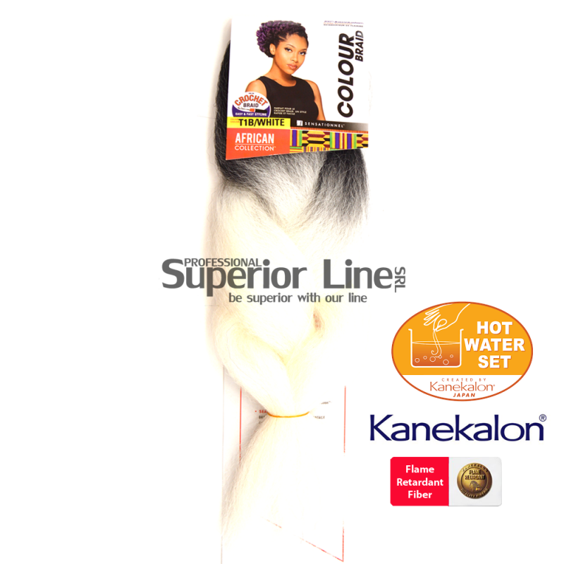 Sensationnel Jumbo Braid par de impletit (culoare T1B/WHITE)
