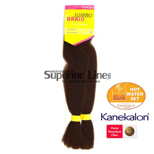 Outre Jumbo Braid kanekalon-zöpfe aus kunsthaar (farbe 6)