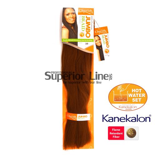 Cherish Jumbo Braid Синтетични коса за африканска плитка (цвят 30)