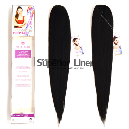 Obsession Ponytail synthetic hair straight (color 1)