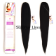 Ponytail synthetic hair straight (color 1)