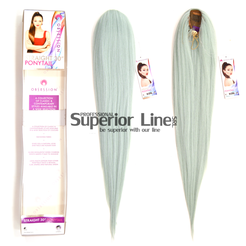 Ponytail synthetic hair straight (color W. OPAL)