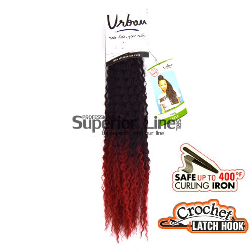 Urban Fresh crochet braid (color T1B/RED)